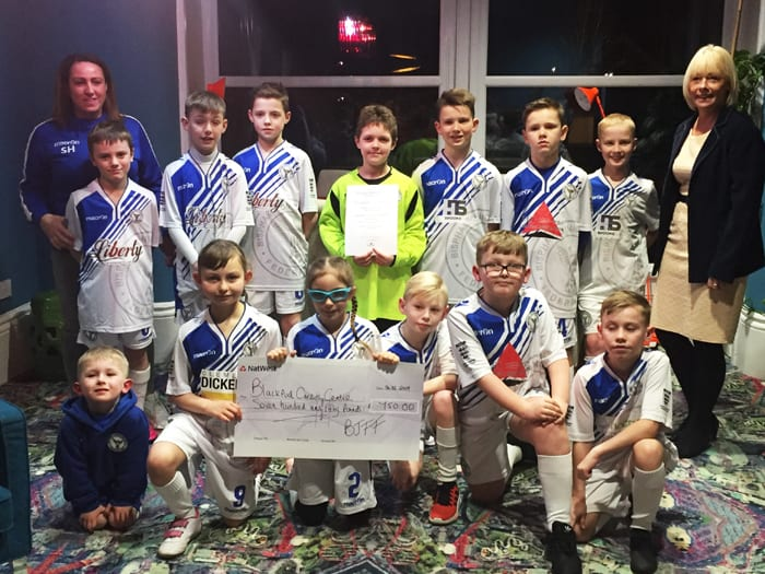 Blackpool Junior Football Federation cheque pres 6.2.19