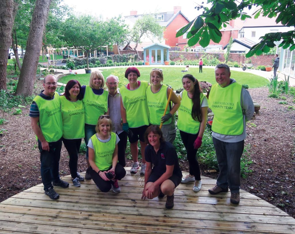 Beaverbrooks Charity Team in garden