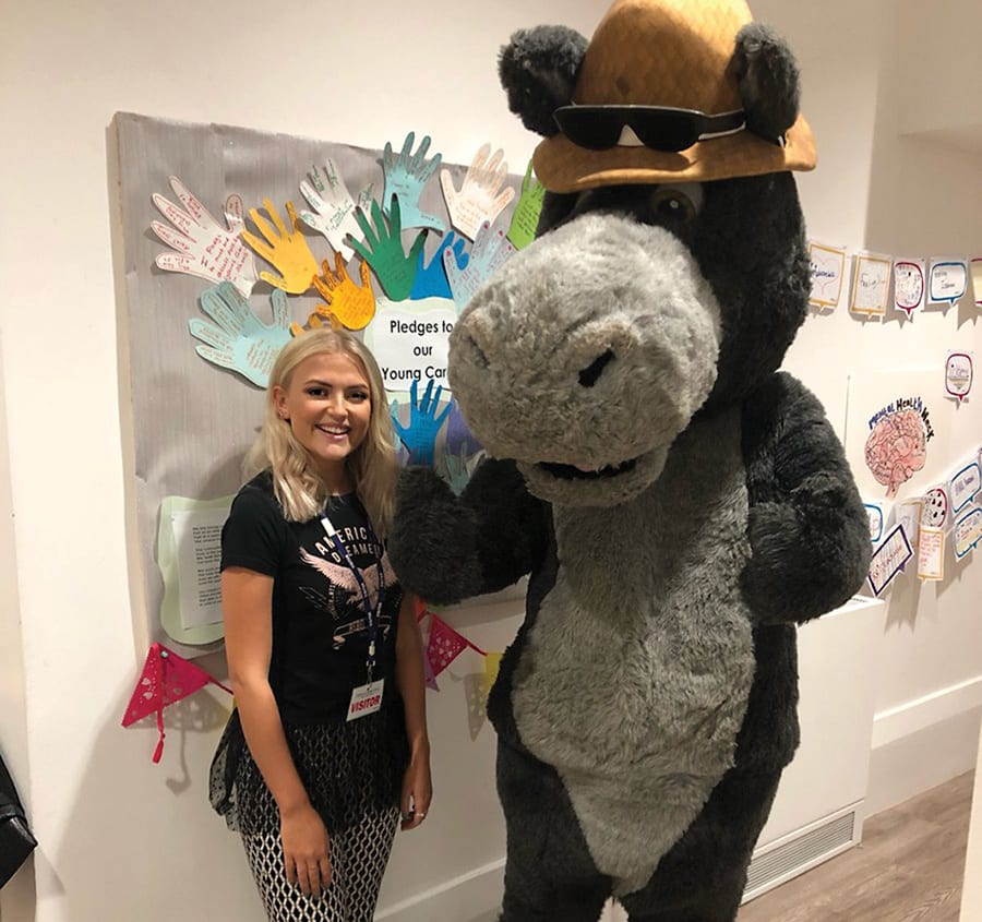 Rocco with Corrie star Lucy Fallon