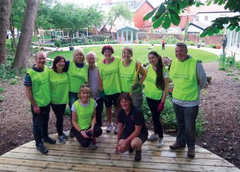 Beaverbrooks Charity Team in garden