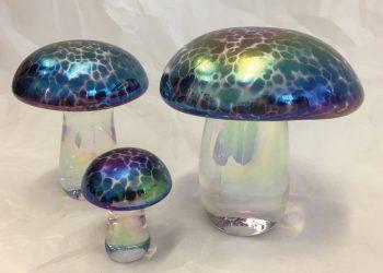 Set of Glasform Mushrooms